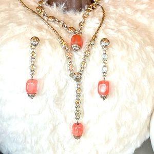 """Brighton """"RIGOLETTO"""" pink Rare Jewelry set"""